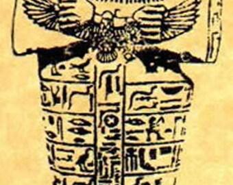 Shabti Ancient Egyptian Funerary Figure / Mummy Rubber Stamp