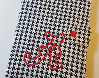 RollTide Standable Kindle Fire HD 7 iPad Mini Kindle Paperwhite Nook Glowlight Nook HD  Black and White Houndstooth