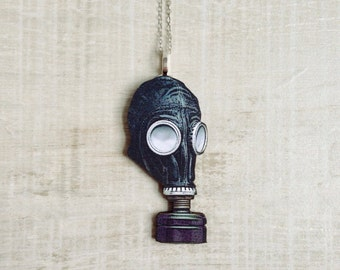 Gas Mask Necklace Steampunk Jewelry