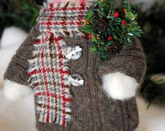 Snowman in a Sweater Coat