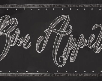 Bon Appetit Chalkboard Sign,French Kitchen Decor, French Cafe Sign, Cafe  Decor,
