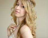 Bridal Hair Vine, Wedding Hair Accessory, Silver and Pearl Bridal Hair, Bridal Headband- Adele