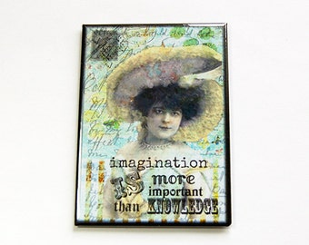 Kitchen magnet, Fridge magnet, Magnet, ACEO, stocking stuffer, Magnet, Imagination, Abstract design, pastel colors (4464)