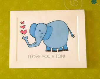 Thanks a TON or I love you a TON - Elephant card