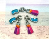 Colored Snorkel Gear- 4 pieces-(Antique Pewter Silver Finish)