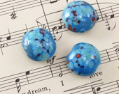 3 Handmade Glass Lampwork Beads 20mm - Vintaj Santa Fe Ridge