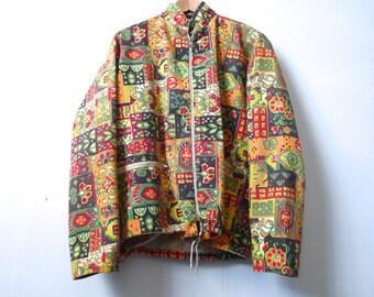 vintage 60s paisley wild JACKET women's coat
