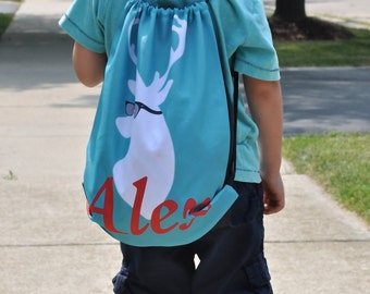 Personalized Drawstring Backpack - Personalized Kids Drawstring Bag