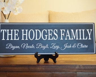 Personalized Family Name Wood Sign: Established Wedding Date Sign Gift 22 x 7