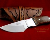 Mesquite Burl Knife with Mosaic Inlay – One of a Kind!