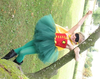 Robin Tutu, Robin Costume, Robin Tutu Costume, Batman and Robin Costume, Robin Tutu Dress