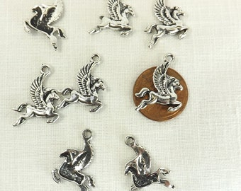 Pegasus charm 8 pieces mythical creature flying horse winged horse fantasy jewelry supply pegasus pendant