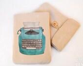 Typewriter Digital Media Case, ipad Case, Kindle Case, Tablet Case, Padded Sleeve, Protective Case