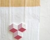 pink CUBIC necklace