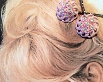 Decorative Hair Pins Retro Pink Celluloid Wedding Cake Hairpins Bobby Pins