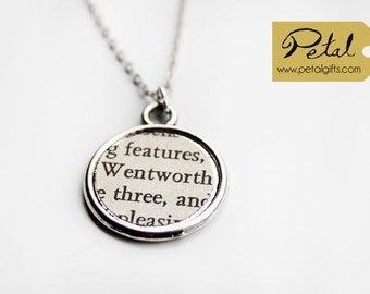 Wentworth necklace - Jane Austen - Persuasion - literary gift - classics - literature - bookmarks and earrings also available