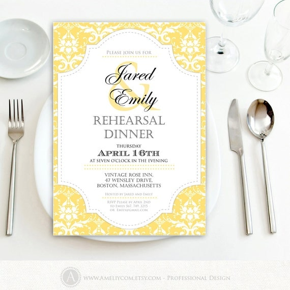 graphic relating to Printable Rehearsal Dinner Invitations named Meal Get together Invites - Pinggcom. 10 Inexpensive Locations In direction of
