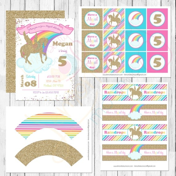 It is a picture of Slobbery Free Unicorn Party Printables