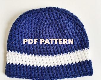 Crochet Patterns Mens Beanies : beanie crochet pattern mens beanie pattern womens hat crochet pattern ...