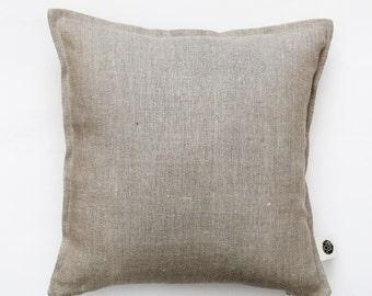 Linen pillow cover grey - decorative cover - throw pillows - shams - cushion case for sofa pillows - natural linen - custom size 0058