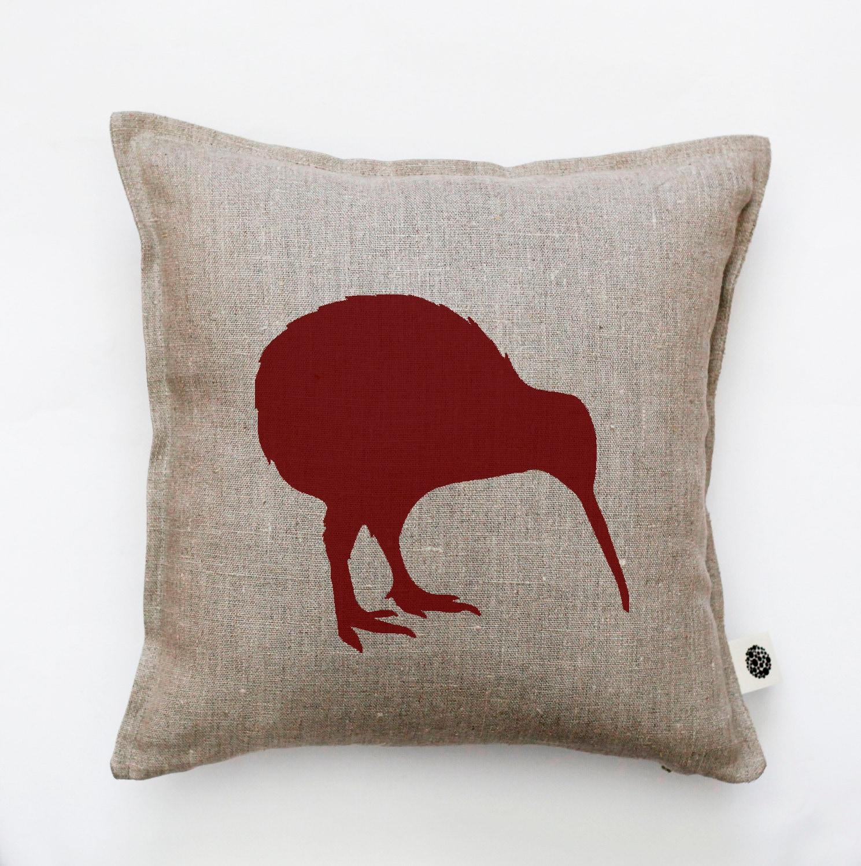 Decorative Pillows With Birds : Bird pillow cover decorative pillow kiwi pillow marsala