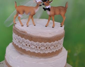 deer wedding cake topper antler wedding groom's cake topper buck and doe bride groom rack wedding decor rustic wedding deer theme deer decor