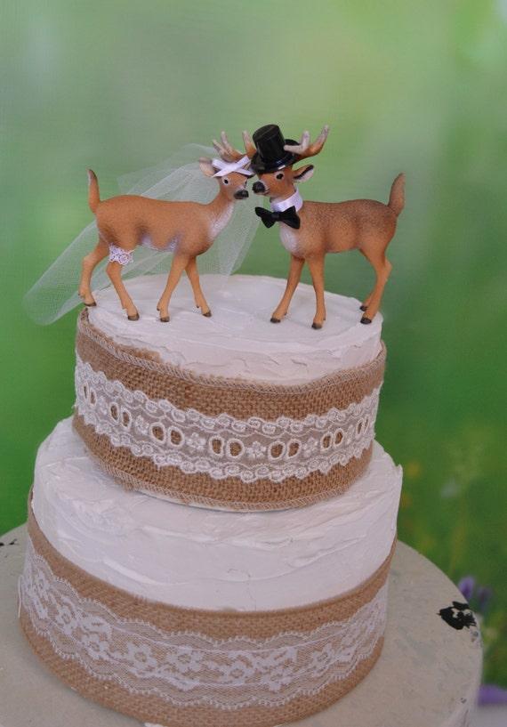 Deer Wedding Cake Topper Antler Wedding Groom S Cake