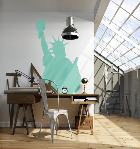 Wall Decal Custom Vinyl Art Stickers - Travel Landmarks USA New York City Statue Of Liberty