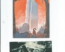 Vtg. 1939 New York World's Fair Rip Discovers Radio Brochure on RCA/NBC @ New York World's Fair & CBS Radio Postcard 1939 Unusual Rare Items