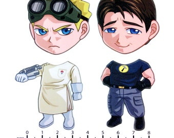 Mix and Match Magnets: Captain Hammer and Dr. Horrible (Dr. Horrible Set)