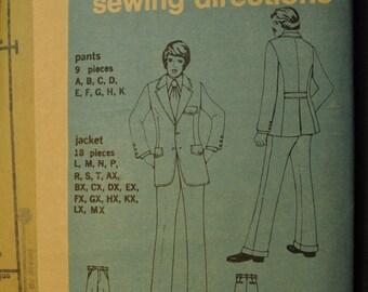 Men's Suit Jacket and Pants Simplicity 5161 Vintage 1970s Sewing Pattern Uncut Size 38, 40, 42, 44, 48