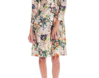 1970s Vintage Lanvin Floral Dress Size: S/M