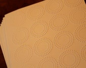 SALE Modern card set, set of eight modern circles embossed cards, clearance