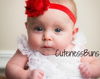 10% OFF, Baby Headbands, Adult Headband, Photo Prop, Flower Headband, Baby Bows Headband, Baby Bow, Girl Flower Headband, Red Headband