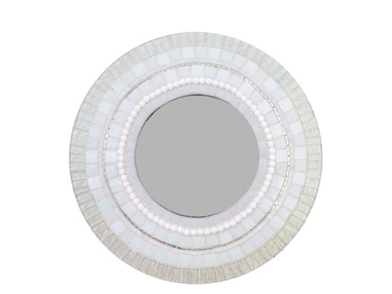 round white mosaic wall mirror mixed media mosaic