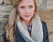 Instant Download - CROCHET COWL PATTERN Chunky Color Block Cowl