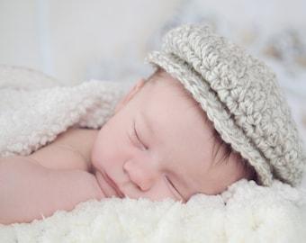 Newborn Baby Boy Hat Irish Donegal Cap Baby Hat Newborn Hat Boy Newborn Baby Hat Donegal Hat Tan Cream Photo Prop Baby Boy Clothes Flat Cap