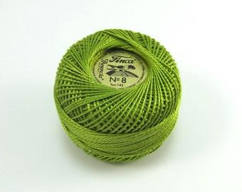 Finca Perle Cotton Thread Pearl Cotton - Moss