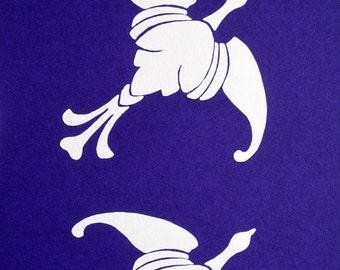Art Nouveau : Mythical Birds - limited edition screenprint