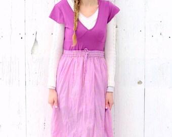Maxi Dress - hippie chic clothing - one of a kind dress - womens size Small Medium - purple bohemian gypsy dress bohemian style womens wear