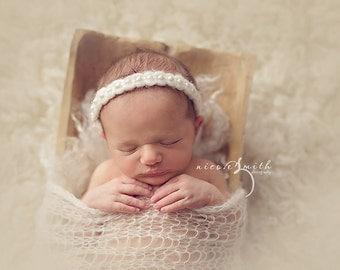 Silk Mohair Lace Wrap, Newborn Photo Prop, Newborn Mohair Wrap, Wavy Knit Mohair Wrap, Newborn Layering Fabric, RTS
