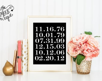 Custom Important Dates Printable, No.22