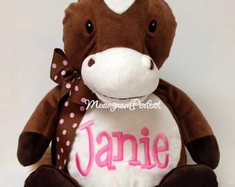 "Personalized 16"" Plush Horse Stuffed Animal"