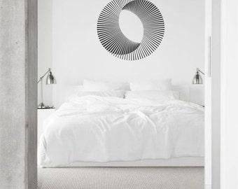 Optical Illusions - Mobius Sun vinyl wall sticker decal geometric art minimal decor (ID: 151018)