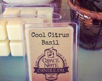 Soy Wax Melt Tarts, COOL CITRUS BASIL Soy Wax Tarts, Soy Wax Melts, Soy Wax Melts, Soy Tarts, Soy Melts, Wax Tarts, Hand Poured Candle Melts