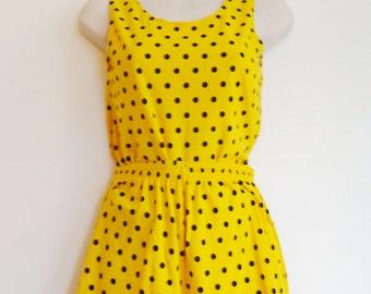 vintage 70 polka dots top and short