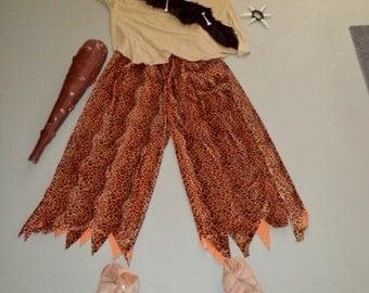 Mens XXXL Bam Bam/Cave Man/Fred Flinstone Costume w/accessories