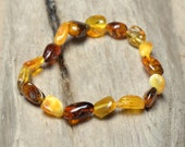 Genuine Amber bracelet for women - Multicolored