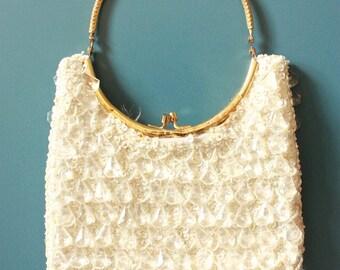 Vintage Lucite Drop Beaded Bag