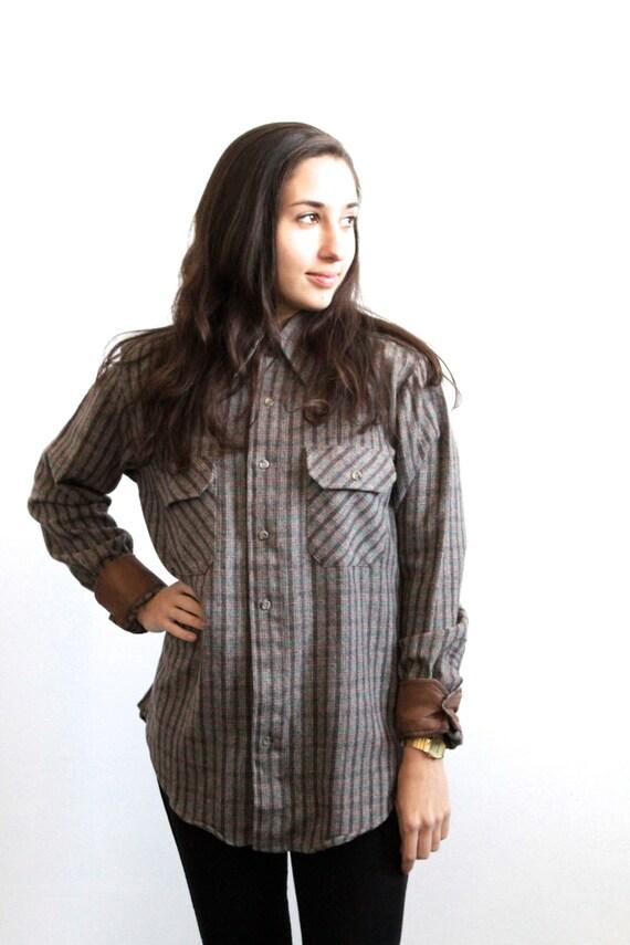 Nirvana faded plaid soft flannel shirt for Ladies soft flannel shirts